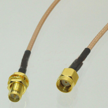 1pc RP SMA Male to RP-SMA Female Pigtail Cable Coaxial RG316 Cord 15CM