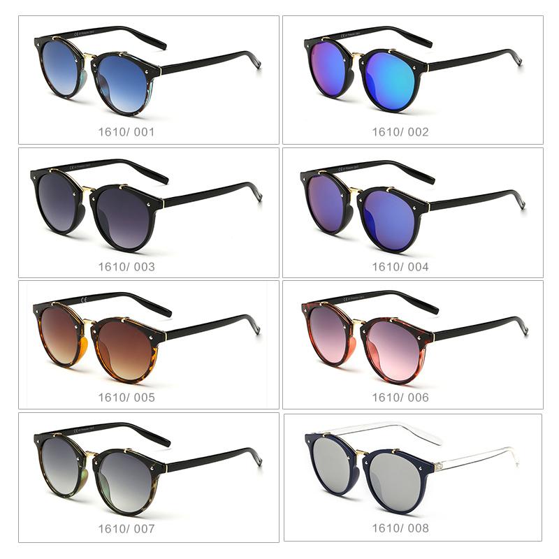 Vintage Round Sunglasses Women Fashion Designer Eyewear UV400 Gradient Female Retro Sun Glasses Brand Points Sun