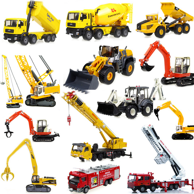 Alloy engineering car model excavator crane car model toys