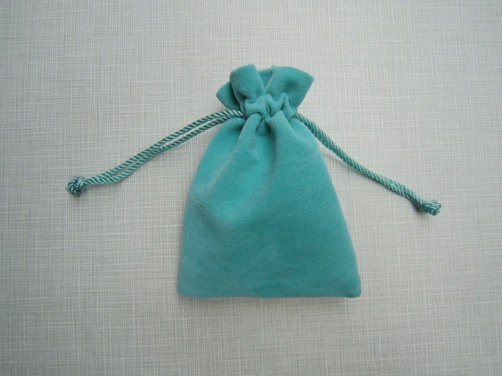 Any logo you want! 8*10cm ,50pcs/lot, highest quality and lowest price blue color Jewelry velvet pouches!(China (Mainland))
