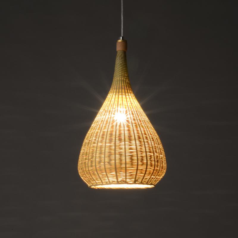 Japanese Style Handmade Bamboo Weaving Creative Pendant