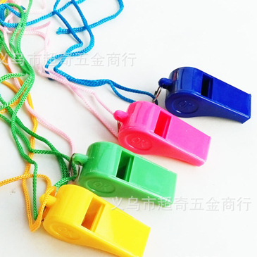 Plastic Toy Whistles Sporting Goods Fans Color Cheer Refuel OK Referee Whistle Creative Children Kids Boys Gifts 24 PCS xu4201(China (Mainland))