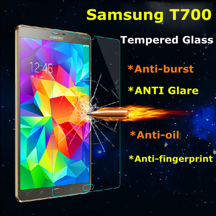 1Pcs Samsung T700 Tab S 8 .4 inch Screen Protector Tempered Glass Edge Anti-Shatter Ace 9H Arc For Samsung T700 T705Tab S 8 .4(China (Mainland))