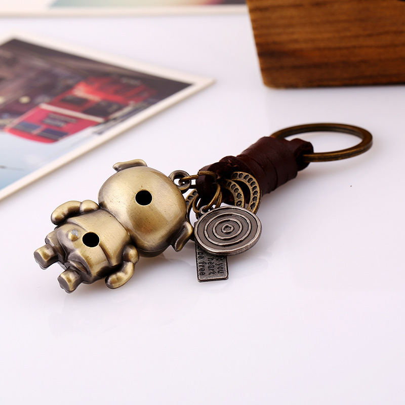 Wholesale Pig Pig Man Key Chain Metal Key Rings For Cartoon Gift Car Backpack Pendant Dropshipping