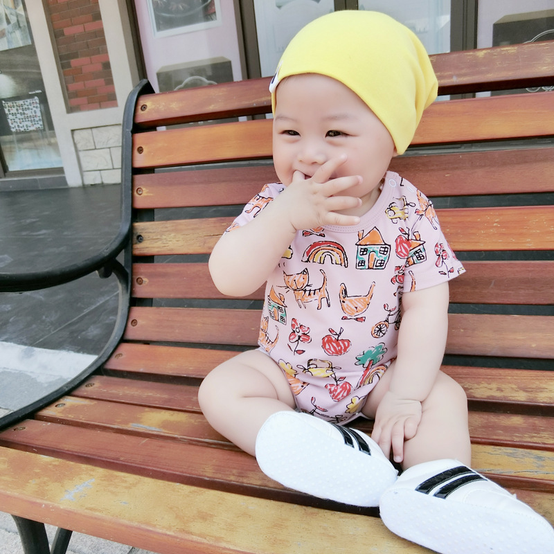 Baby Bodysuits Carter 100%Cotton Infant Body Bebes Short Sleeve Clothing Jumpsuit House Printed Baby Boy Girl Bodysuits 0-24(China (Mainland))