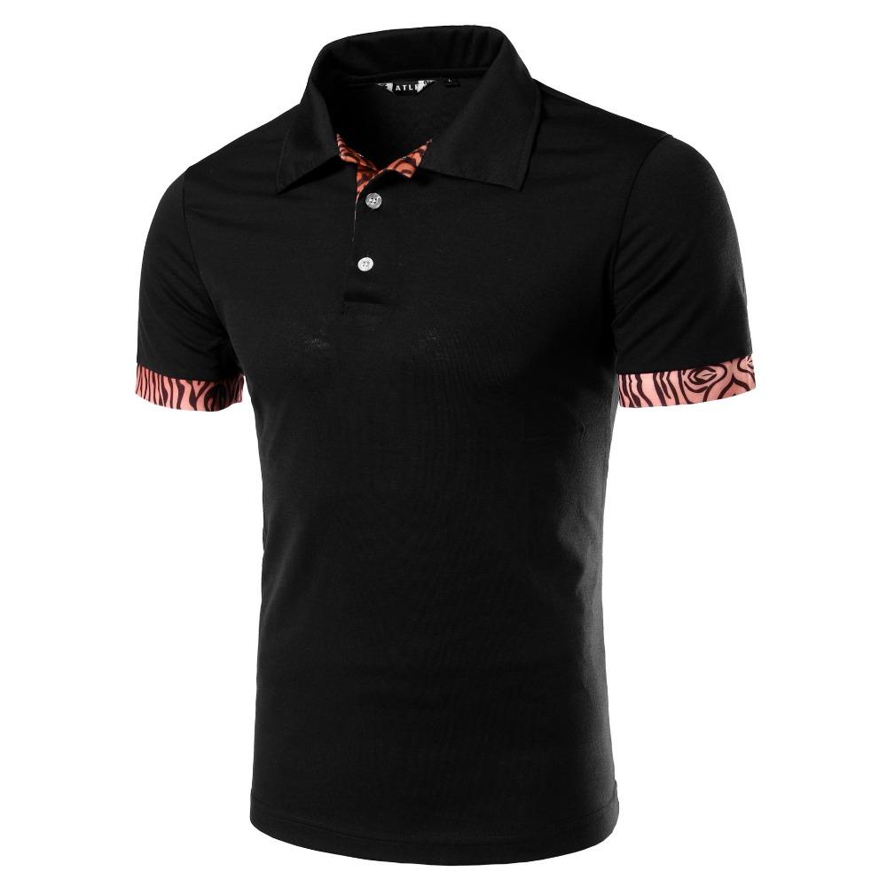 Brand Polo Shirt Men 2016 Summer Leopard Short Sleeve