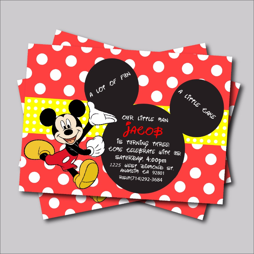 Online Get Cheap Mickey Mouse Invitations -Aliexpress.com ...