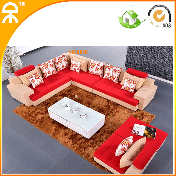 5 pcs alibaba carved purple red blue brown velvet sofa set couch with chaise lounge(China (Mainland))
