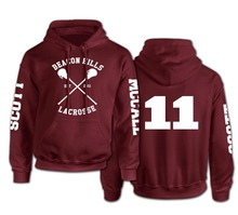 Beacon Hills Lacrosse Logo Wolf Men Hooded Hoodie TeenWolf Stiles Stilinski Teen Sweatshirt Men Pullover Front And Back Printing(China (Mainland))