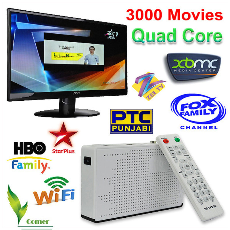 HD Indian IPTV box support 200 plus Live HD Indian Channels Hindi MAX English Tamil Android TV box KODI XBMC Full loaded<br><br>Aliexpress