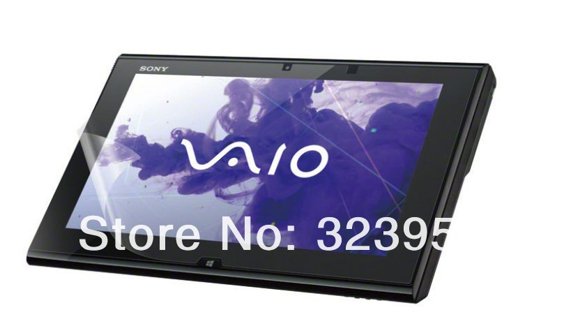 Clear screen protectors For Sony VAIO Duo 11 crystal screen protector cover 100pcs/lot free shipping(China (Mainland))