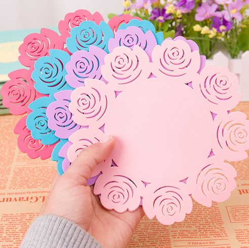 Pink Red Blue Colorful Useful Food Grade Silicone Coaster Cup Drinks Holder Mat Tableware Placemat Wholesale(China (Mainland))