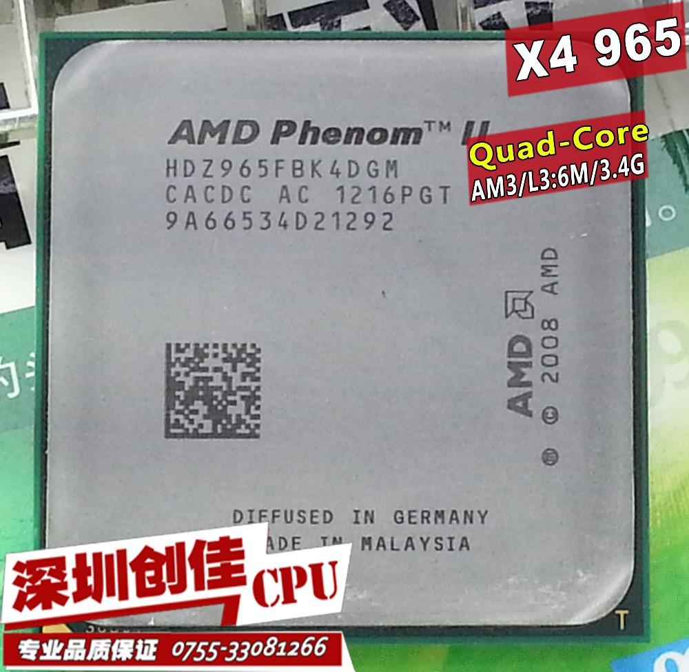 Free shipping AMD Phenom II X4 965 3.4GHz Socket AM3 938 Processor Quad-Core 2M Desktop CPU scrattered pieces(China (Mainland))