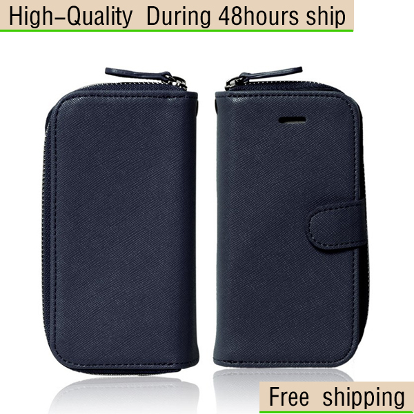 New Fashion 2 IN 1 Leather Case Cover + Wallet Bag For Apple iphone 5 5G 5th Free Shipping UPS DHL EMS HKPAM CPAM GAD-1