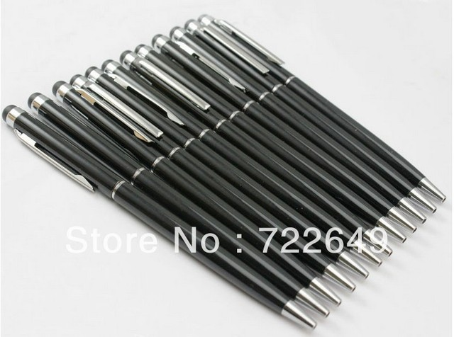 800pcs/lot 2 in 1 Touch Stylus + ball point Pen for Capacitance screen for IPhone 5 4s For Samsung N7100 / i9300 / HTC / LG