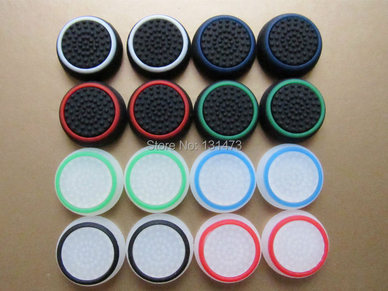20pcs/lot Silicone colorful Cap Thumb Stick Joystick Grip For Sony PS4 PS3 Xbox 360 Xbox one Controller Game Accessory(China (Mainland))