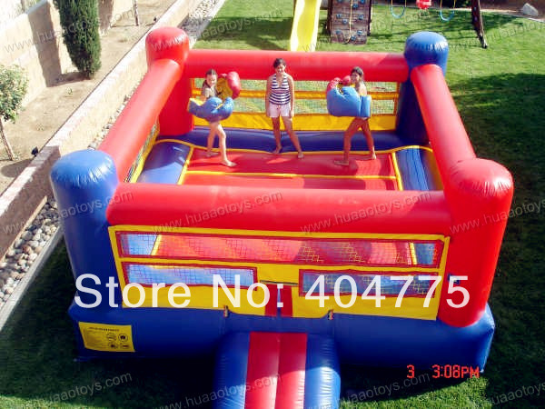 inflatable boxing ring with free CE/UL blower and 2 helmets and 2 sticks and free shipping by air express to door(China (Mainland))