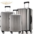 Universal 4 Wheels Hardside ABS PC Travel Trolley Luggage Suitcase 1 Piece 20 24 28 Silver