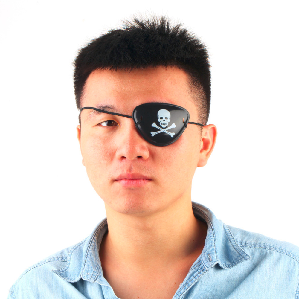 1 PCS Pirate Eye Patch Skull Crossbone Halloween Party Favor Bag Costume Kids Toy