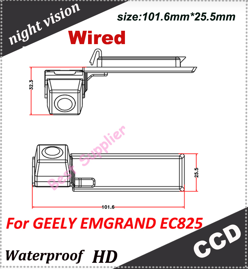CCD HD car rear camera for GEELY EMGRAND EC825 parking system backup viewer reversing car security camera(China (Mainland))