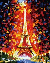 Buy Eiffel Tower painting numbers Abstract paintings home wall art pictures living room diy oil painting canvas for $8.08 in AliExpress store