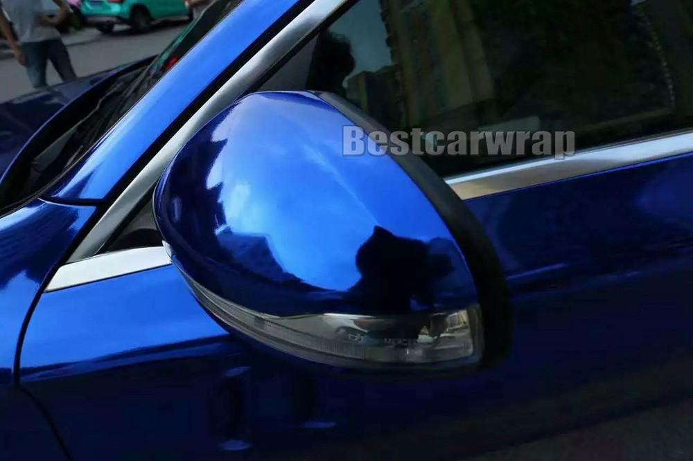 Dark blue chrome car wrapping film (2)