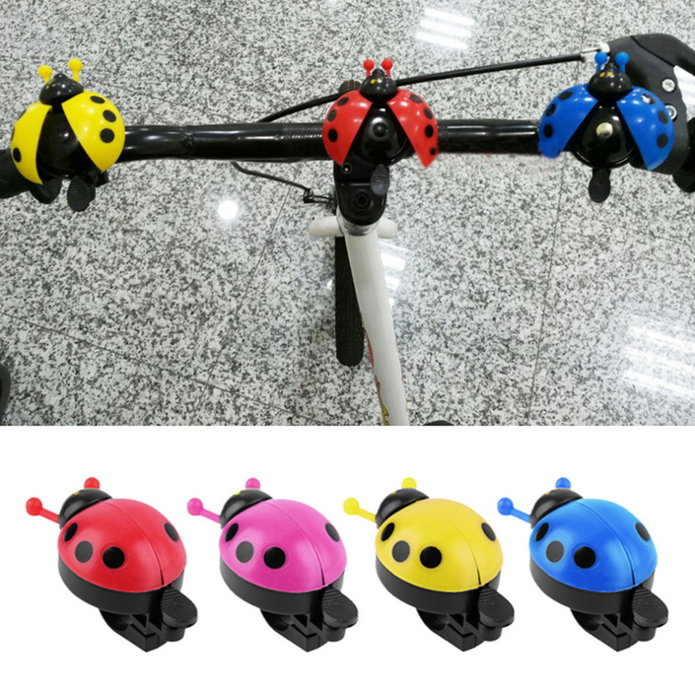 Hot ! Lovely Kid Beetle Ladybug Ring Bell For Cycling Bicycle Bike Ride Horn Alarm(China (Mainland))