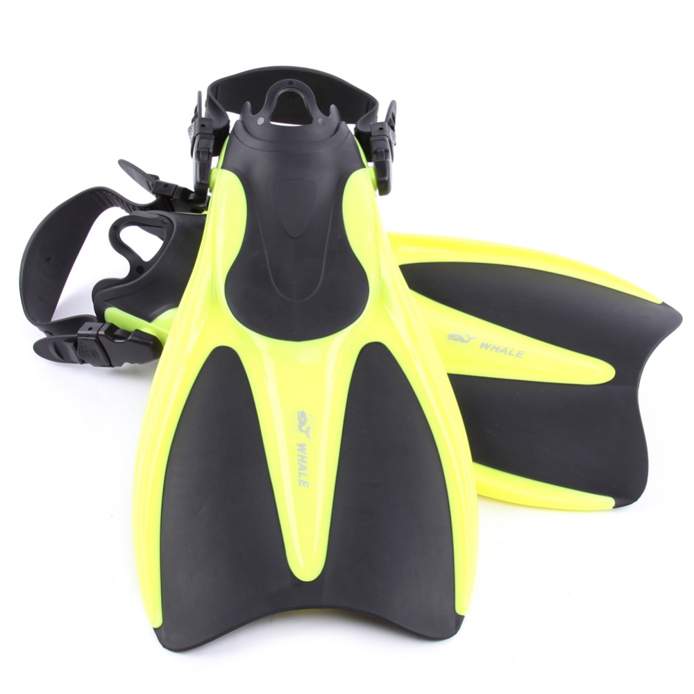 New Adult Swimming Fins Adjustable Submersible Long Fins Snorkeling Foot Swimming Flipper Diving Fins 2 Size(China (Mainland))