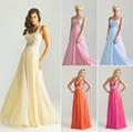A Line Chiffon Sweetheart One Shoulder Beading Bridesmaid Dresses Wedding Party Dress Robe De Soiree Size