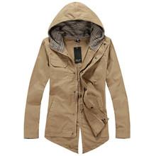 Hot Sale New 2015 Mens Male Autumn Winter Fashion Hoodies Slim Jacket Outwear Tuxedo Cotton Casual Coat 3 Colors Plus Size L-XXL(China (Mainland))