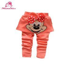 2014 new Autumn Korean baby girls child bow Mickey cotton padding culottes pants Leggings B105