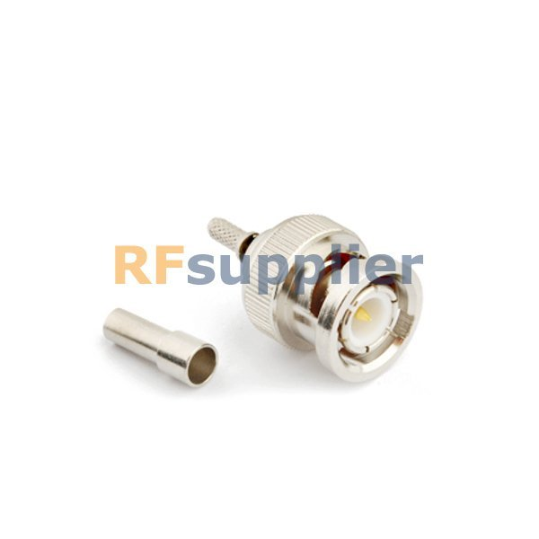5PCS BNC male crimp straight connector for RG316 RG178 1.13 Cable
