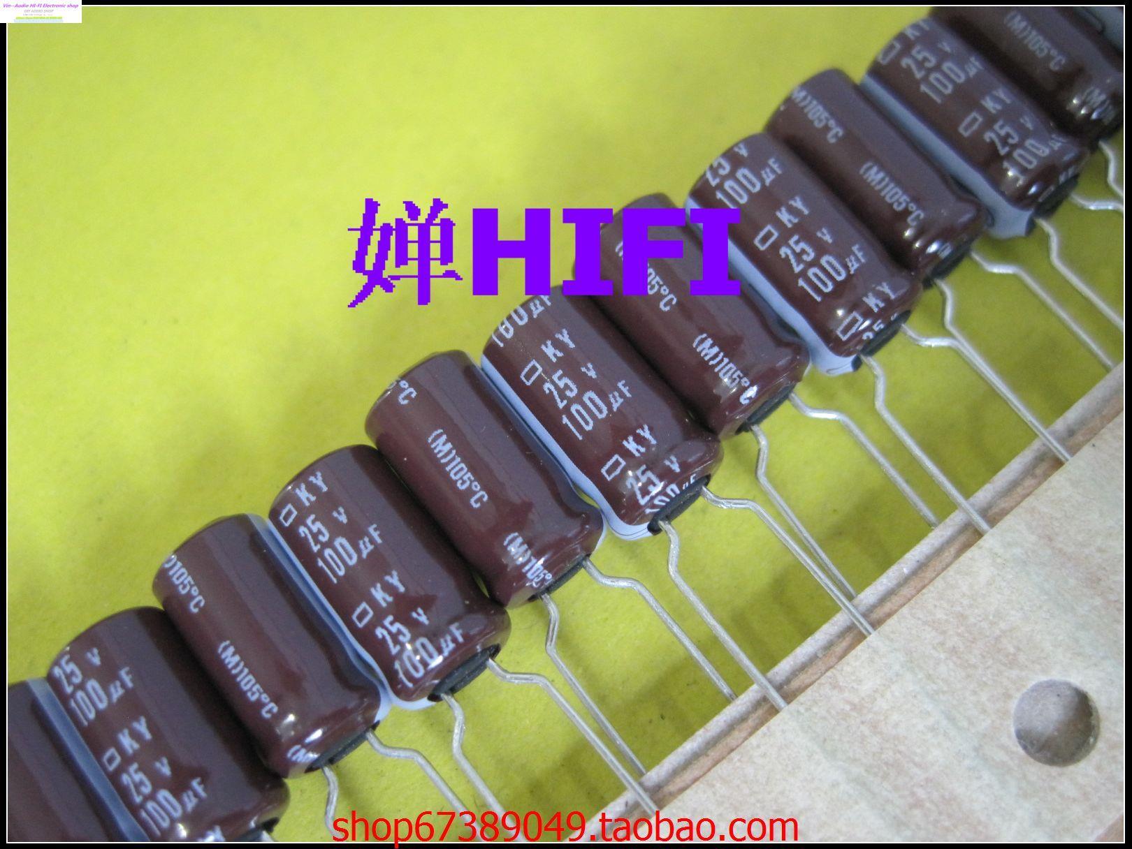 Здесь можно купить  200PCS NCC NIPPON Japan NIPPON genuine Black Edition electrolytic capacitors 25v100uf 6.3x11 KY [ 10 ] FREE SHIPPING  Электронные компоненты и материалы