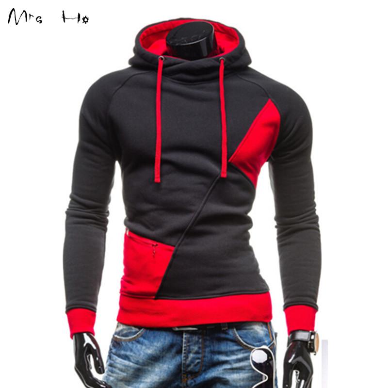 High Quality Men Sweatshirts Patchwork Star Hoodies Coat Slim Fit Hoodies Men Sportsuit Tracksuits Men Sweatshirt MHW026(China (Mainland))