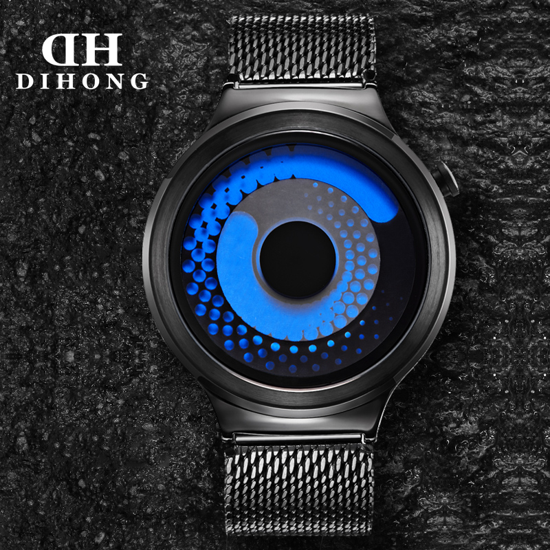 Free Shipping DIHONG Creative Concepts quartz watch,no pointer,Luminous,waterproof sports fashion beautiful watch New Brand(China (Mainland))