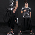 27 42 2016 Fashion stage Costume male personality fashion harem pants male culottes