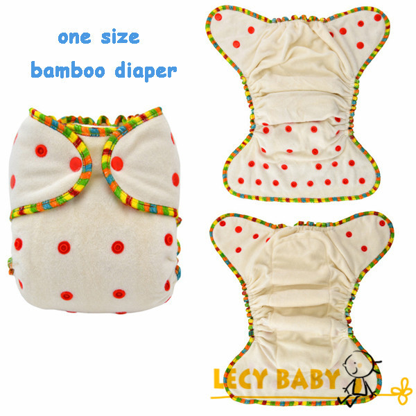 Free Shipping 2014 one size Baby Bamboo Diapers 100% organic Bamboo French terry Cloth Diaper Nappies with bamboo inserts 2pcs(China (Mainland))