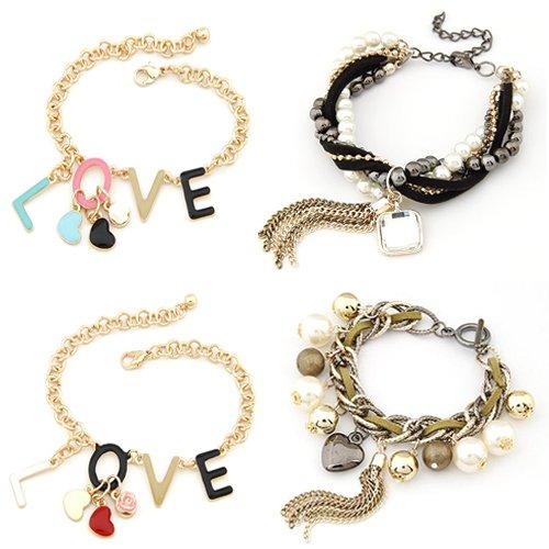 produto Discount DHL& B2B Wholesale 24pcs/lot Multiple Style Fashion Bracelets / Beads Bracelets / Charm Bracelets - 120412 -3