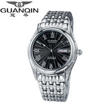 Original GUANQIN Watches Men Top Brand Luxury Automatic Mechanical Casual Sapphire Luminous Waterproof Men Watches Wristwatches