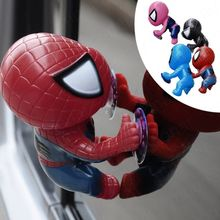 16CM for Spider Man Toy Climbing Spiderman Window Sucker for Spider-Man Doll Car Home Interior Decoration 4 color 2X HM141#50(China (Mainland))