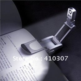 LED Booklight Reading Light with Clip Battery Robotic High Tech Ultra Bright New Hot Sale Free Shipping 300 pcs