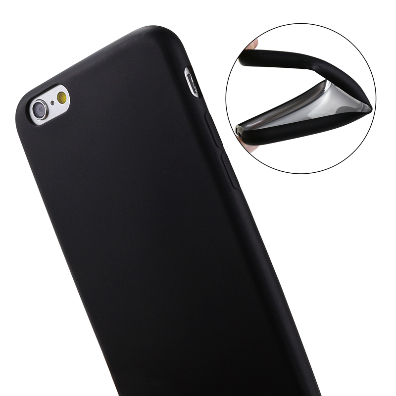 Luxury Case For Iphone 6 6S S 5S 5 7 Girls Coque Black Phone Bag Case TPU Silicone Soft Cover Rubber For Iphone 6