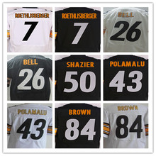 New 7 Ben Roethlisberger 12 Terry Bradshaw 26 Le'Veon Bell 36 Jerome Bettis 43 Troy Polamalu 50 Ryan Shazier 84 Antonio Brown(China (Mainland))