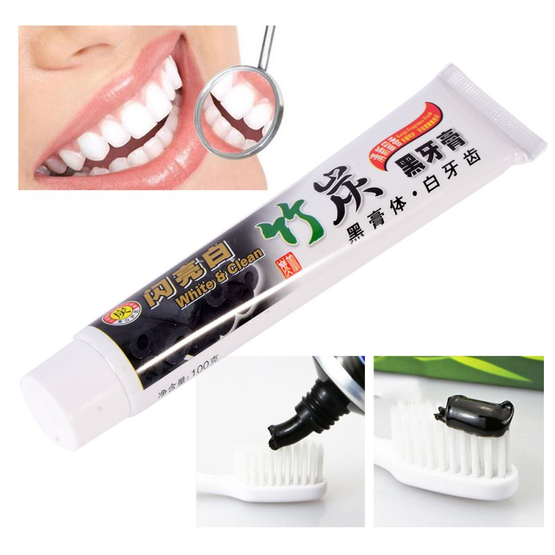 Bamboo Charcoal All-purpose Teeth Whitening The Black Toothpaste Free Shipping LH6