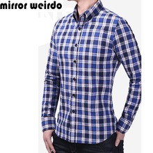 2016 All Cotton Chemise Homme Camisa Social Masculina Casual Plaid Men Shirts Fashion Vetement Homme Business Tartan Clothing