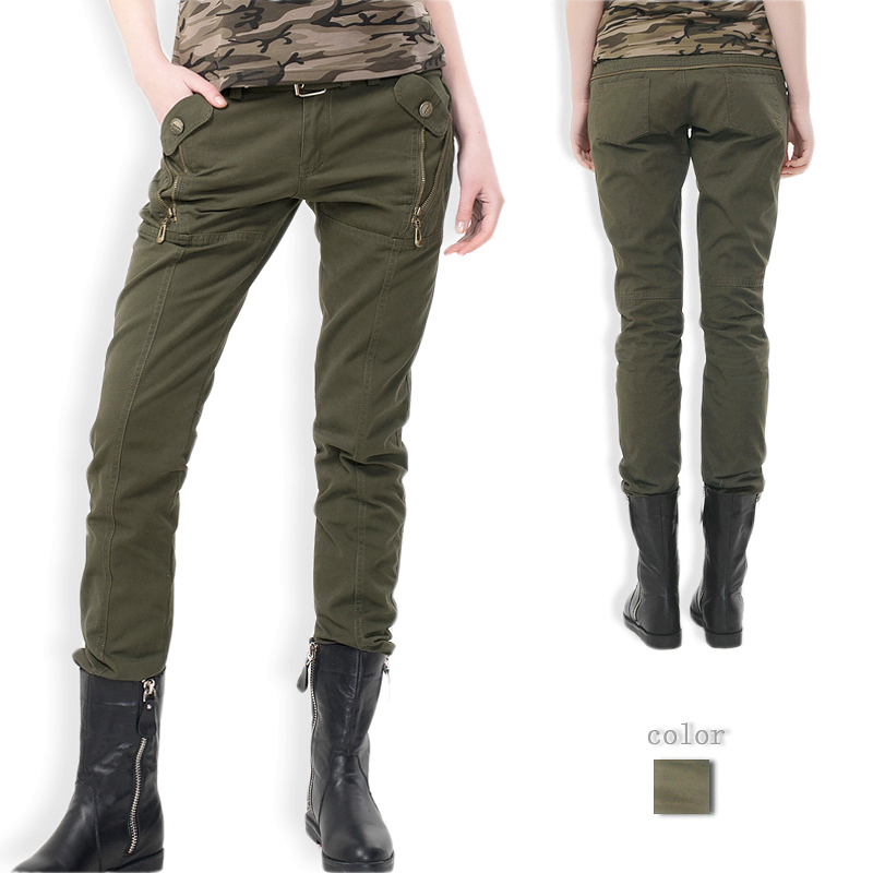 New Womens Autumn Army Vogue Camo Cargo Pocket Pants Leisure Trousers