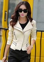 2016 Spring Women Leather Jackets  new women's big size  sheepskin leather jacket and coat,female short design motorcycle jacket(China (Mainland))