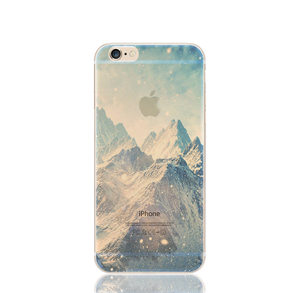 Fashion Landscape architecture Luxury Mirror diamond Silicone Soft Cover case for iPhone 5 /5S /6 /6S /6 Plus / 6S Plus mm7-m55(China (Mainland))