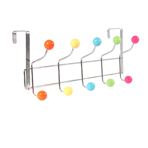 Over the Door 5-hook Organizer Rack for Hat / Clothes / Bag(China (Mainland))