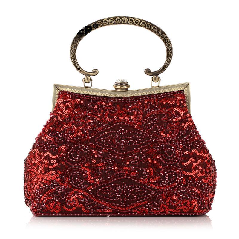 2015 Vintage Hand-sewed Beaded Evening Bag Ethnic Beading Cheongsam Clutch Bag India&Pakistan Style Fashion Hand Bag XA1143A(China (Mainland))